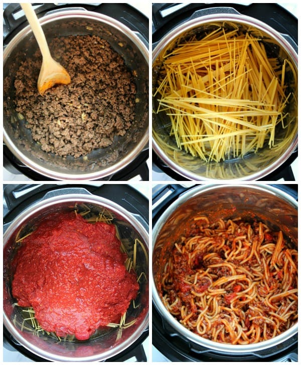 Steps to make Instant Pot Spaghetti Instant Pot Spaghetti Recipe