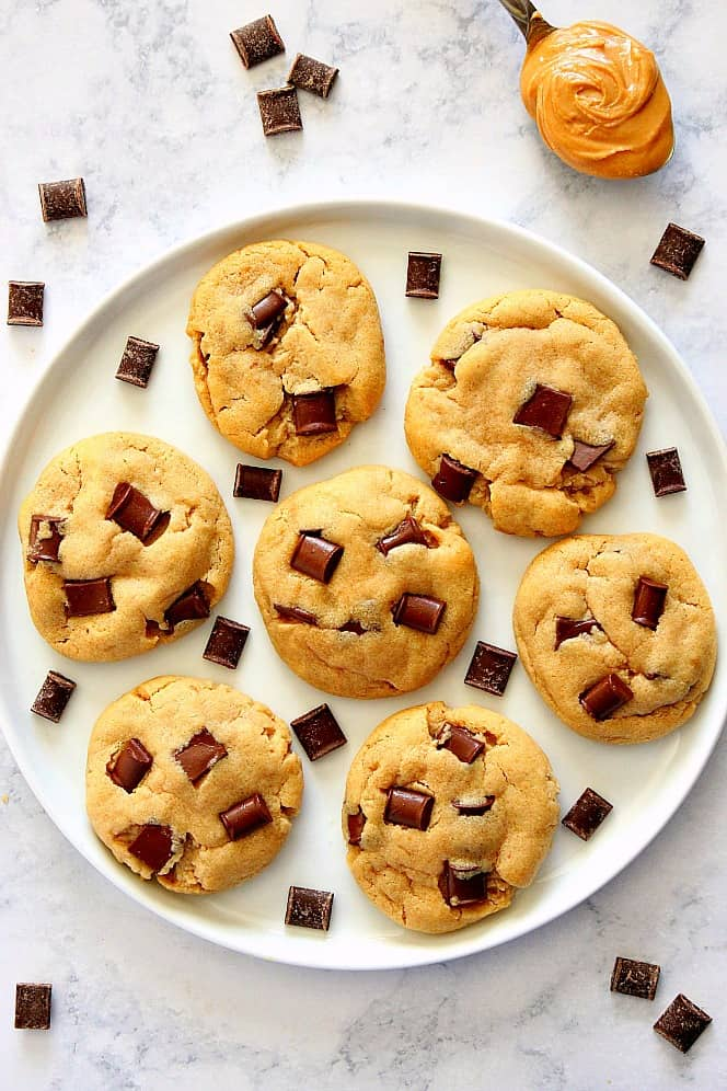 soft chocolate chip peanut butter cookies 2a Peanut Butter Chocolate Chunk Cookies Recipe