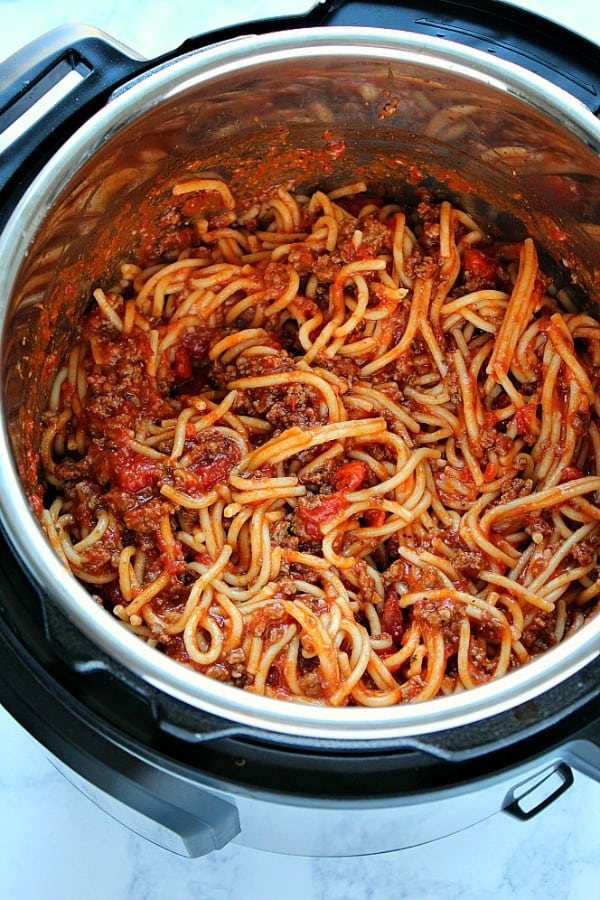 the best Instant Pot spaghetti A 14 Day Instant Pot Meal Plan