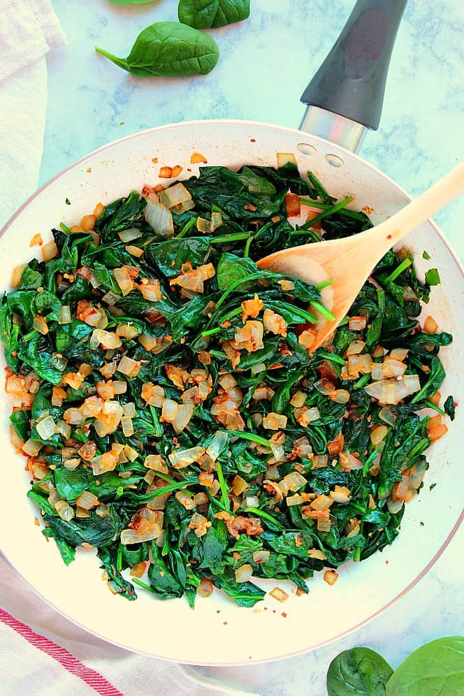 the best sauteed spinach 2a The Best Sauteed Spinach Recipe