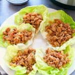 How to make easy chicken lettuce wraps in the Instant Pot.