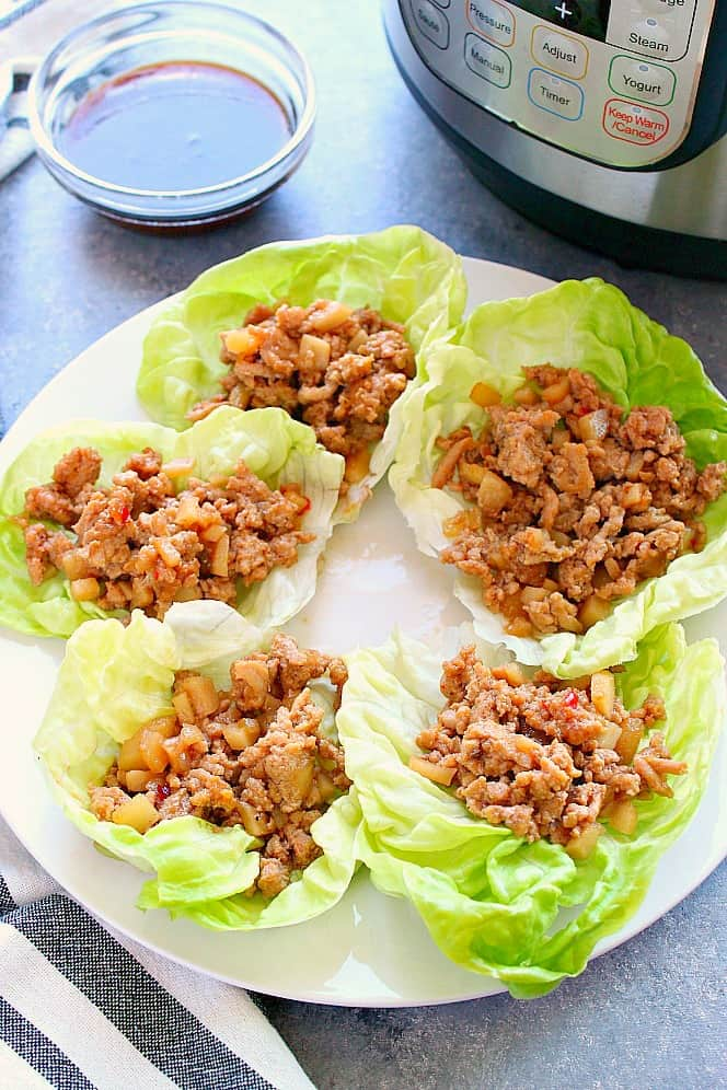 IP chicken lettuce wraps 3a Healthy Instant Pot Recipes for Everyone
