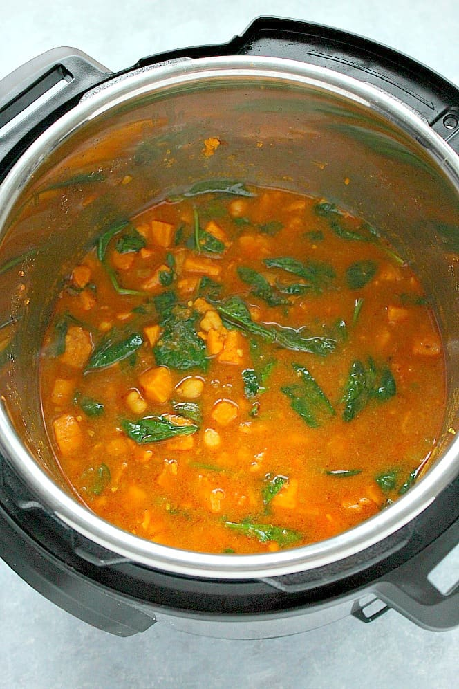 Instant Pot sweet potato chickpea curry 1a Instant Pot Sweet Potato Curry