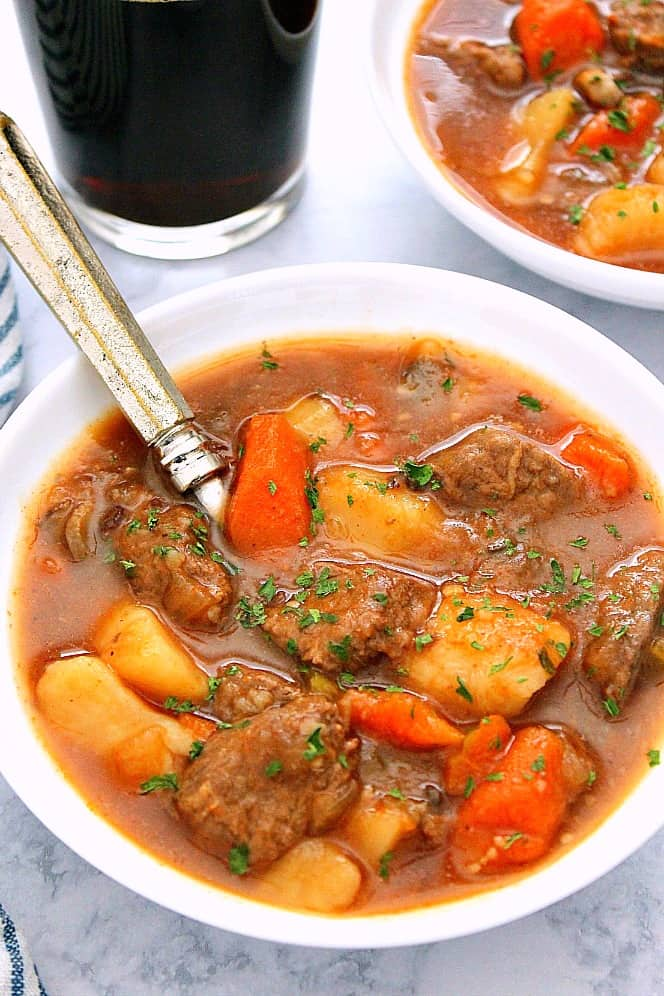 IP beef stew Ab Instant Pot Guinness Beef Stew Recipe