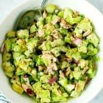 avocado tuna salad in white bowl long A 150x150 Avocado Tuna Salad