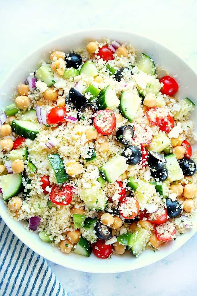 Mediterranean couscous salad 1 Mediterranean Couscous Salad Recipe