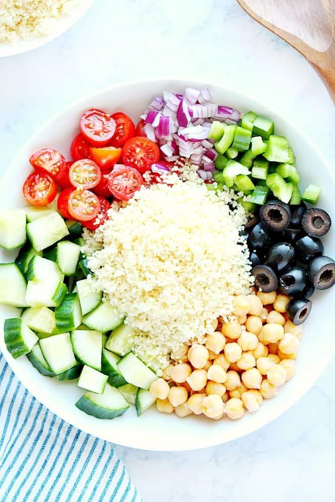 Mediterranean couscous salad 3 Mediterranean Couscous Salad Recipe