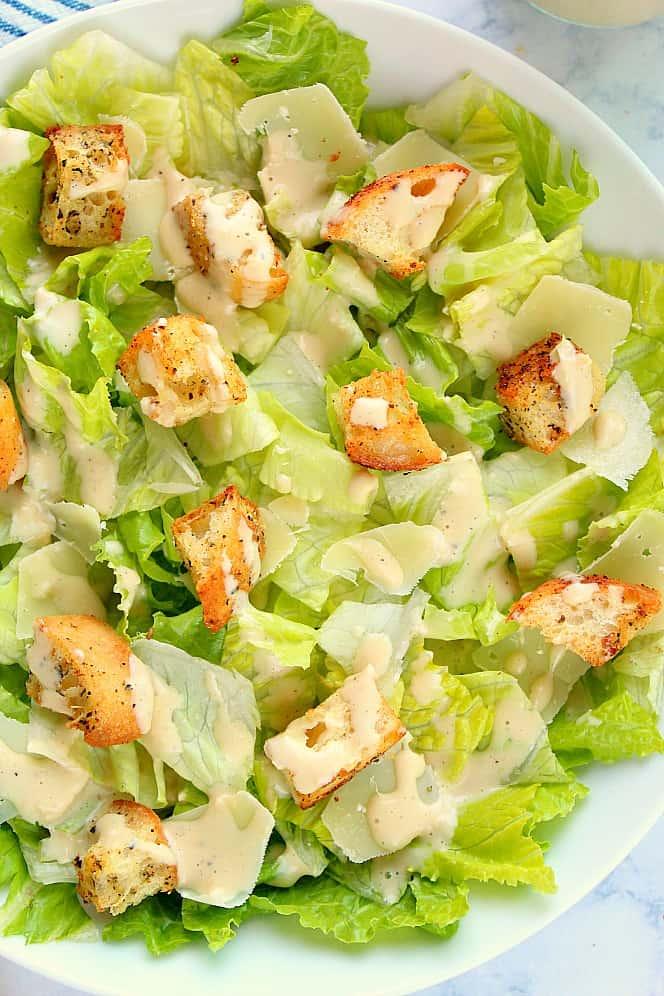 caesar salad with homemade dressing Perfect Caesar Salad