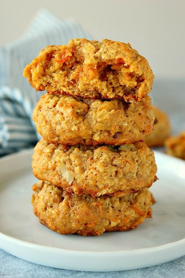 Oatmeal Carrot Cookies Recipe - Crunchy Creamy Sweet