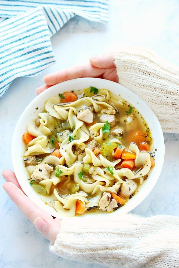 IP chicken noodle AA Instant Pot Chicken Noodle Soup