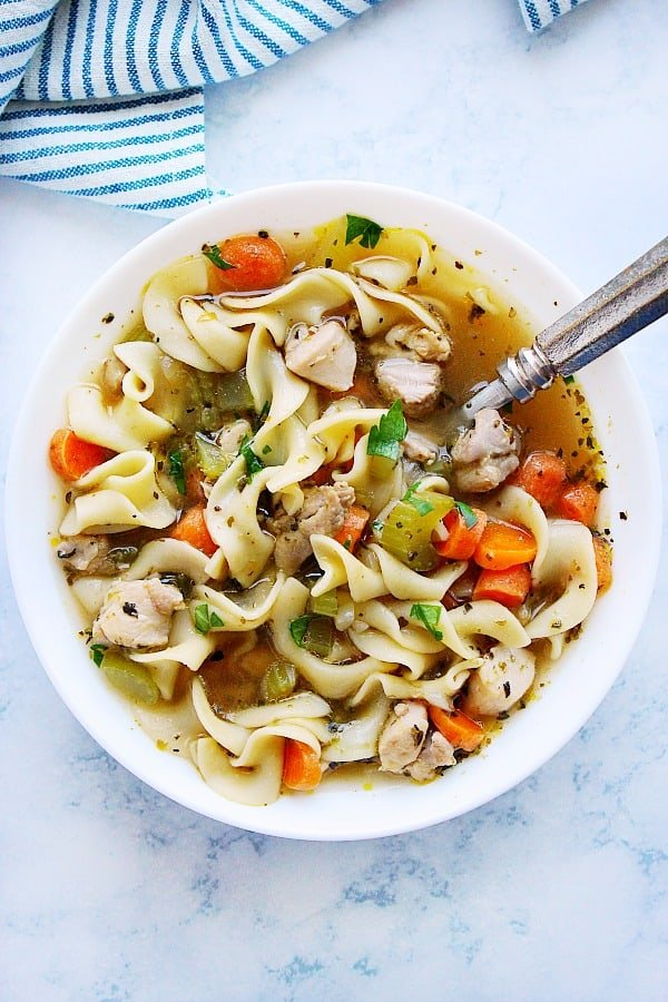 IP chicken noodle CC Instant Pot Chicken Noodle Soup