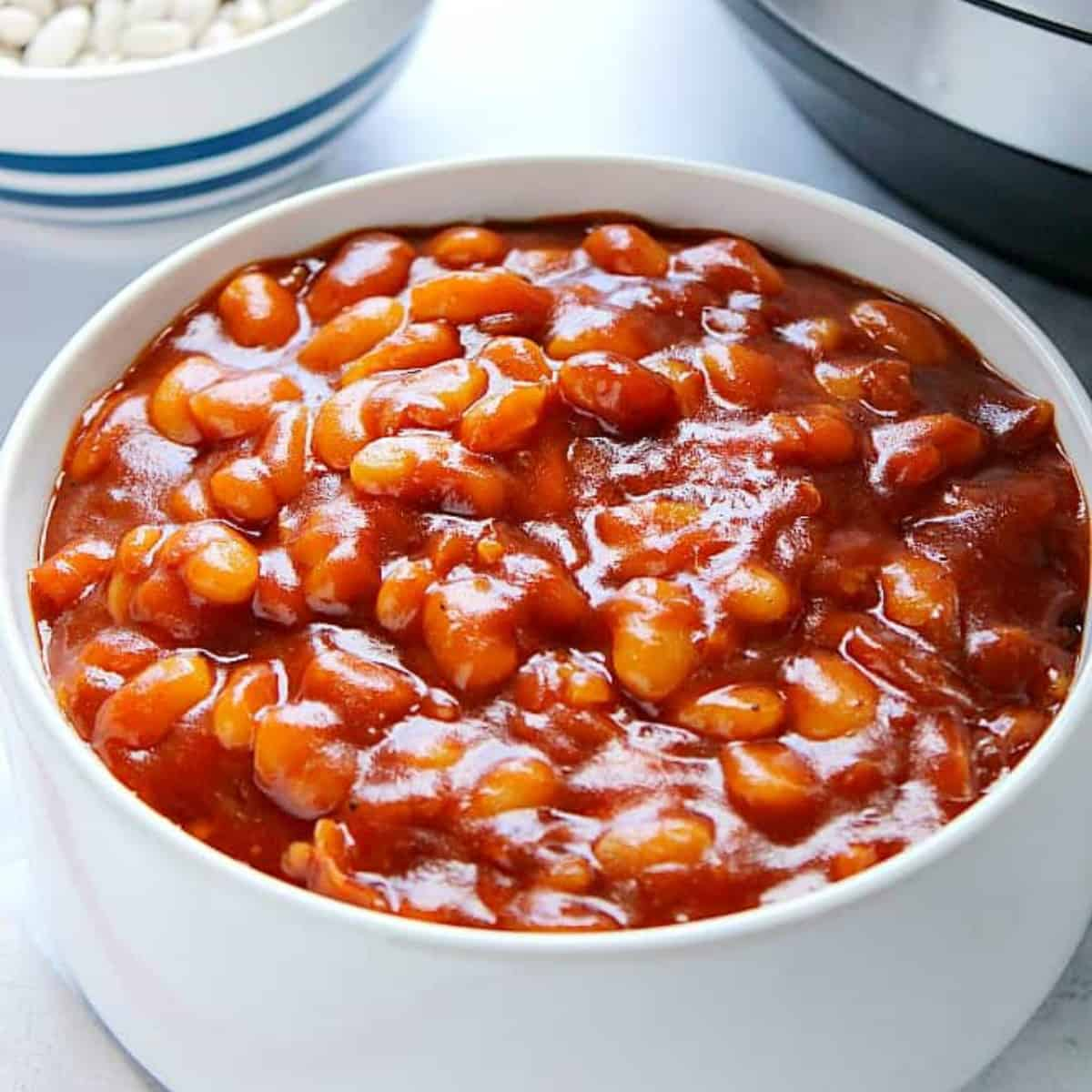 Easiest Instant Pot Baked Beans Crunchy Creamy Sweet