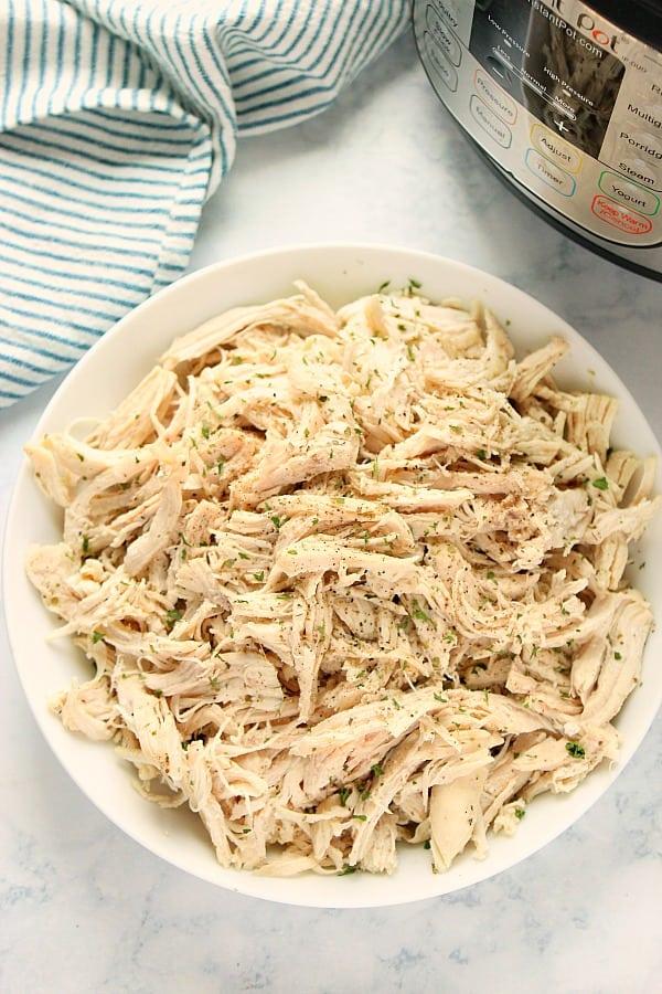 Instant Pot shredded chicken D Instant Pot Shredded Chicken