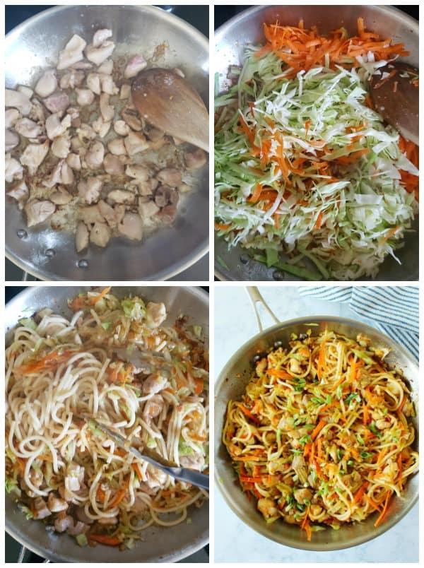chow mein Collage Chicken Chow Mein