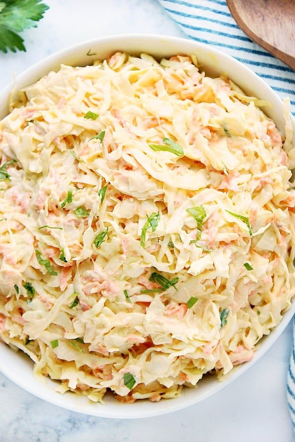 creamy coleslaw A Easy Creamy Coleslaw