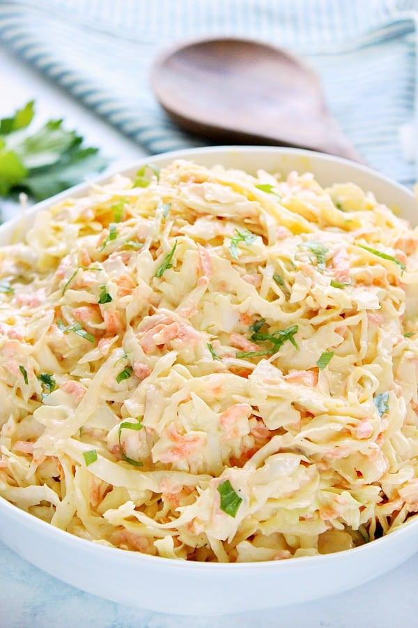 creamy coleslaw B Easy Creamy Coleslaw
