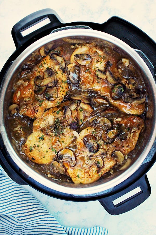 IP chicken marsala C new Instant Pot Chicken Marsala