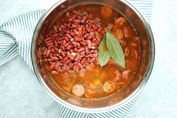 IP red beans and rice step 3 Easy Instant Pot Red Beans and Rice