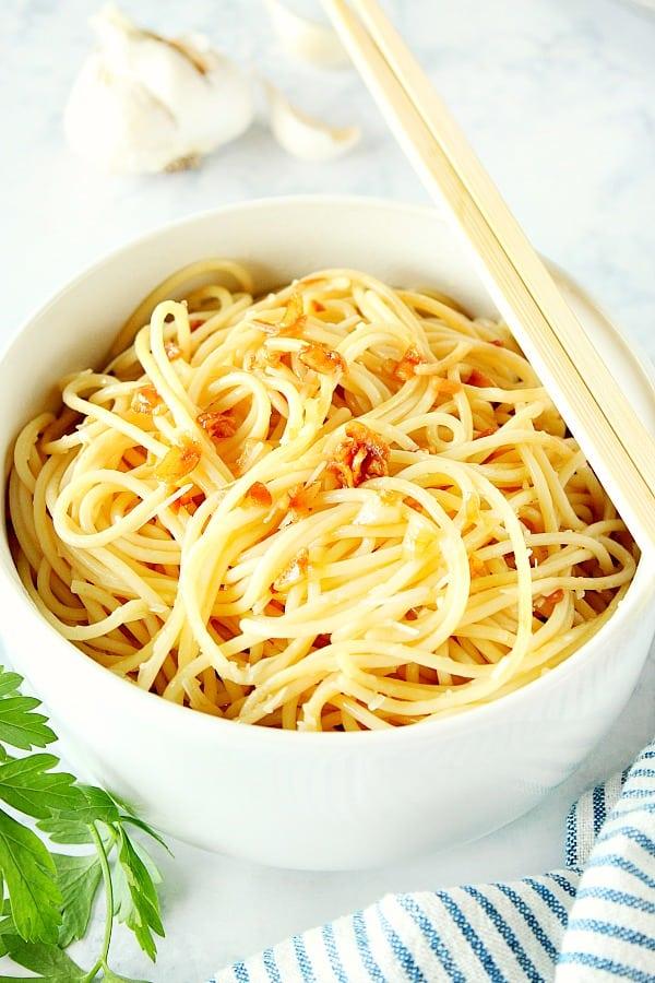 garlic noodles 3 10 Minute Garlic Noodles