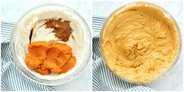 pumpkin pie step 2 No Bake Pumpkin Pie