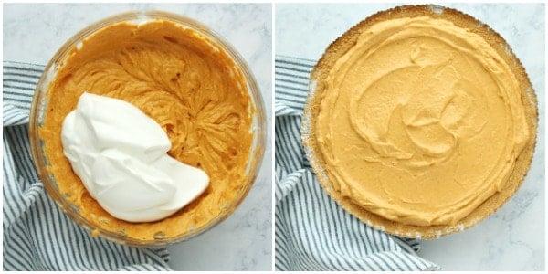 pumpkin pie step 3 No Bake Pumpkin Pie