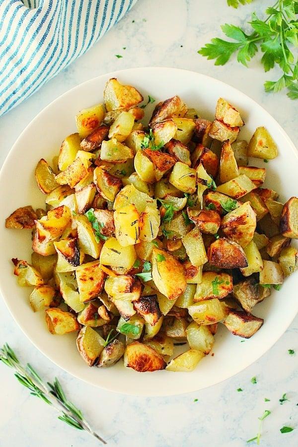 rosemary potatoes B Roasted Rosemary Potatoes