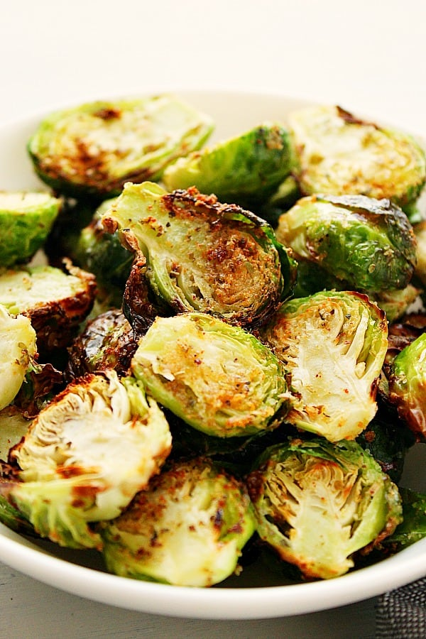 AF brussels sprouts B Air Fryer Brussels Sprouts