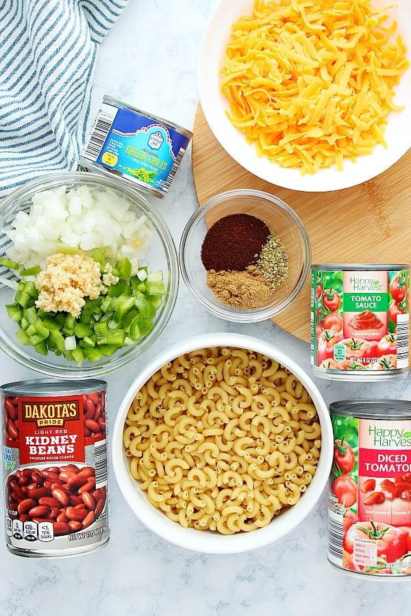 IP chili mac and cheese ingredients Instant Pot Chili Mac