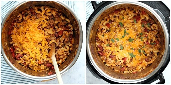 IP chili mac and cheese step 1a Instant Pot Chili Mac