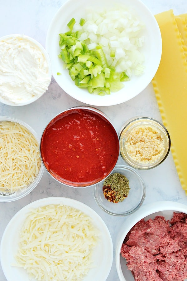 Instant Pot lasagna ingredients Instant Pot Lasagna