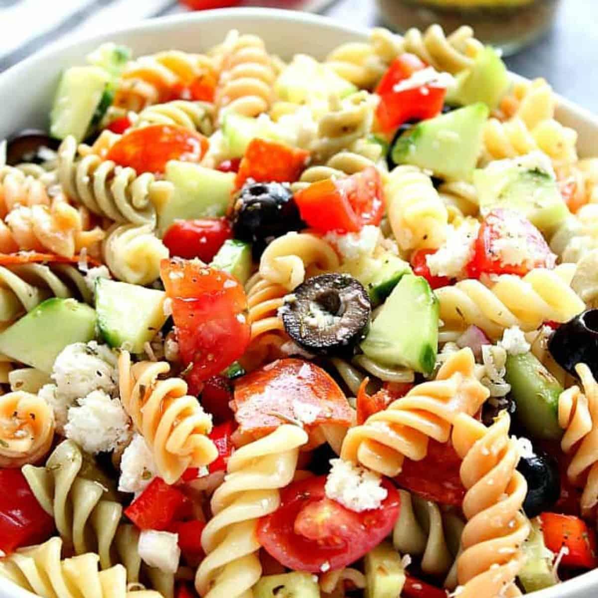 Italian Pasta Salad With Pepperoni Crunchy Creamy Sweet