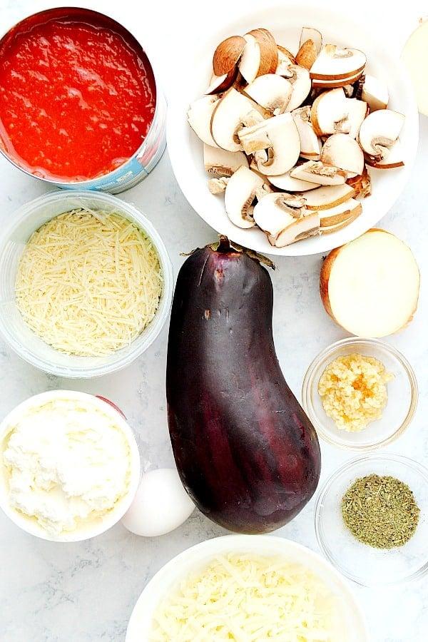eggplant lasagna ingredients Eggplant Lasagna