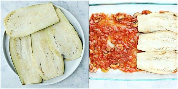 eggplant lasagna step 2a Collage Eggplant Lasagna