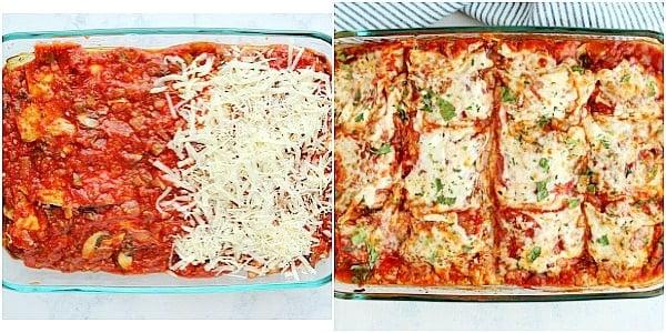 eggplant lasagna step 4a Collage Eggplant Lasagna