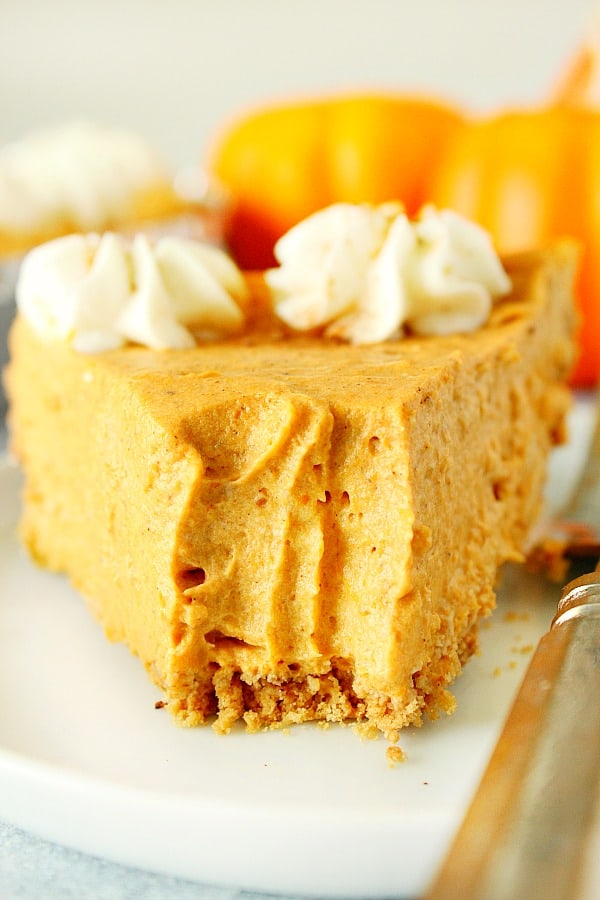 no bake pumpkin pie 1 No Bake Pumpkin Pie