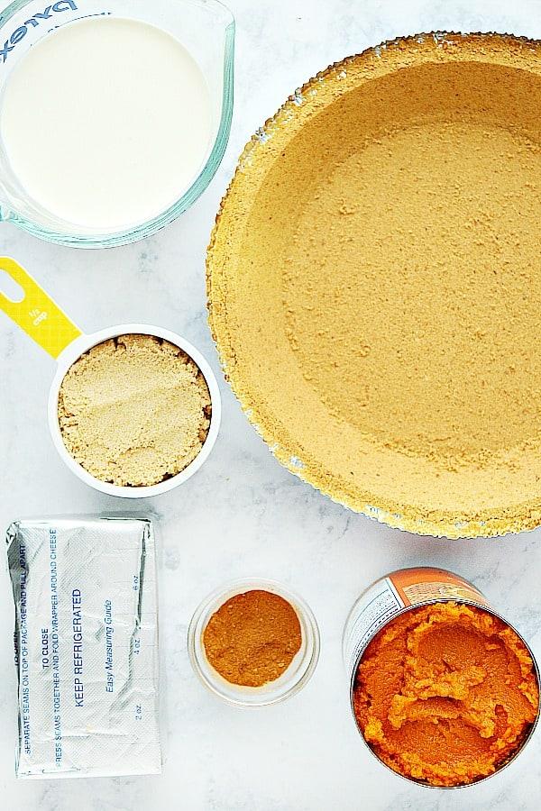pumpkin pie ingredients No Bake Pumpkin Pie