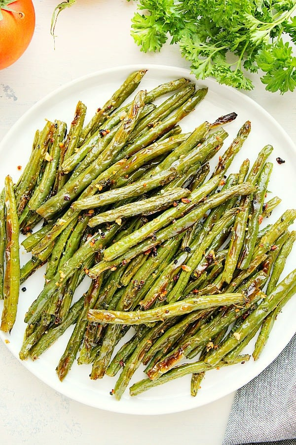 roasted green beans Aa Roasted Green Beans