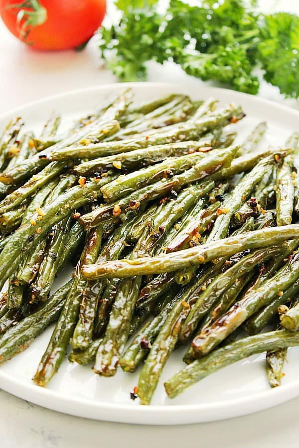 roasted green beans B Roasted Green Beans
