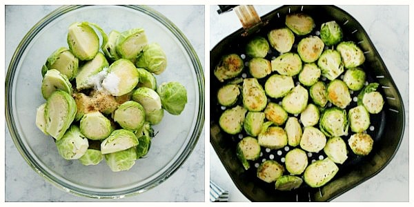 step 1a AF brussels Collage Air Fryer Brussels Sprouts