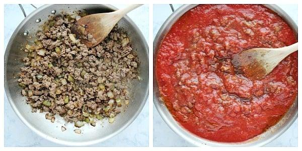 step 1a make the sauce Instant Pot Lasagna