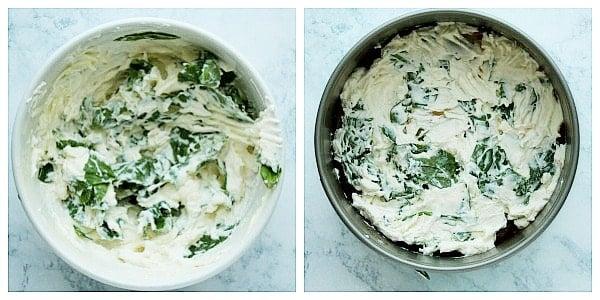 step 3a layer ricotta Instant Pot Lasagna