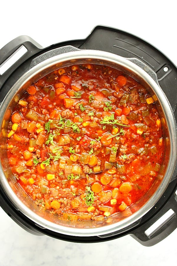 Instant Pot Hamburger Soup A Instant Pot Hamburger Soup