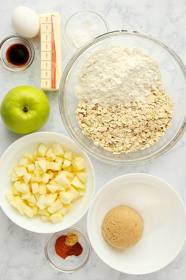 apple oatmeal cookies ingredients Apple Oatmeal Cookies