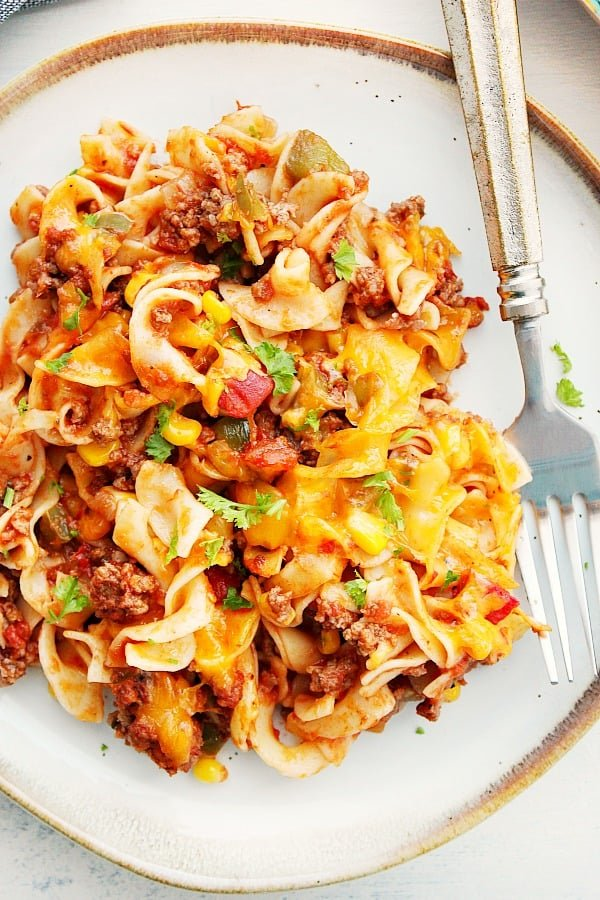 beef noodle casserole A Cheesy Beef Noodle Casserole
