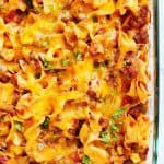 beef noodle casserole B 150x150 Cheesy Beef Noodle Casserole