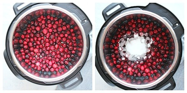 IP cranberry sauce steps Instant Pot Cranberry Sauce
