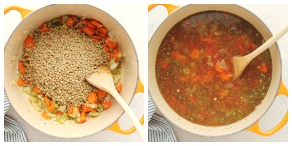lentil soup step 3 and 4 Lentil Soup