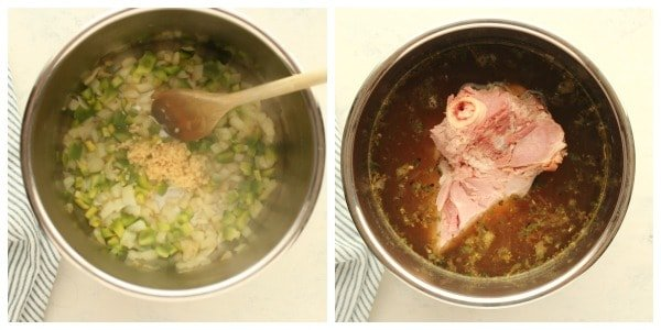 Instant Pot Ham and Beans Collage Ham and Bean Soup (Instant Pot)
