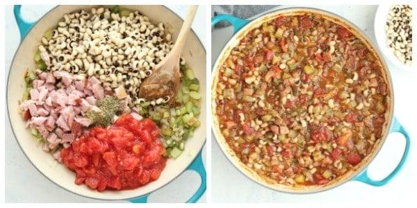 black eyed peas step 3 and 4 Black Eyed Peas with Ham