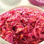 Red Cabbage in a bowl.